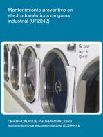 UF2242 - Mantenimiento preventivo en electrodomésticos de gama industrial