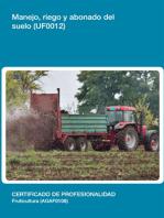 UF0012 - Manejo, riego y abonado del suelo