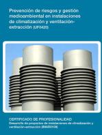 UF0420 - Prevención de riesgos y gestión medioambiental en instalaciones de climatización y ventilación-extracción