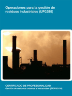 UF0289 - Operaciones para la gestión de residuos industriales