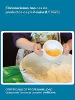 UF0820 - Elaboraciones básicas de productos de pastelería