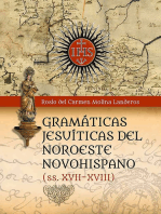 Gramáticas Jesuíticas del Noroeste Novohispano (Siglos XVII-XVIII)