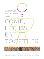 Come, Let Us Eat Together