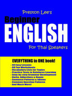 Preston Lee's Beginner English For Thai Speakers