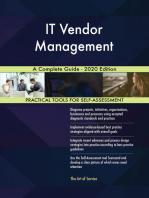 IT Vendor Management A Complete Guide - 2020 Edition