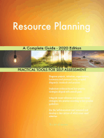 Resource Planning A Complete Guide - 2020 Edition