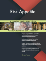 Risk Appetite A Complete Guide - 2020 Edition