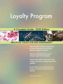 Loyalty Program A Complete Guide - 2020 Edition