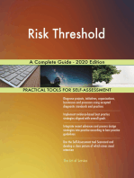 Risk Threshold A Complete Guide - 2020 Edition