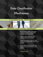 Data Classification Effectiveness A Complete Guide - 2020 Edition