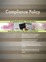 Compliance Policy A Complete Guide - 2020 Edition