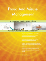 Fraud And Misuse Management A Complete Guide - 2020 Edition