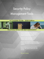 Security Policy Management Tools A Complete Guide - 2020 Edition