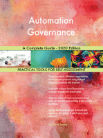 Automation Governance A Complete Guide - 2020 Edition