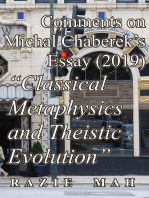 """Comments on Michal Chaberek's Essay (2019) """"Classical Metaphysics and Theistic Evolution"""""""