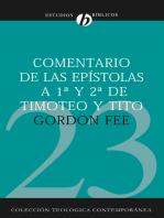 Comentario de las epístolas de 1ª y 2ª de Timoteo y Tito