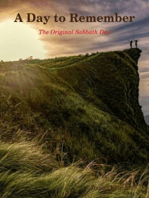 A Day to Remember: The Original Sabbath Day