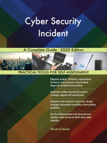 Cyber Security Incident A Complete Guide - 2020 Edition