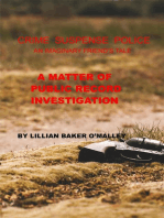 A Matter of Public Record Investigation