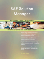 SAP Solution Manager A Complete Guide - 2020 Edition