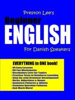Preston Lee's Beginner English For Danish Speakers