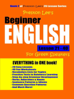 Preston Lee's Beginner English Lesson 21