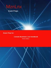 Exam Prep for:: Canada Business Law Handbook