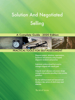 Solution And Negotiated Selling A Complete Guide - 2020 Edition