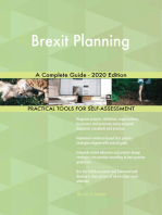 Brexit Planning A Complete Guide - 2020 Edition