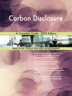 Carbon Disclosure A Complete Guide - 2020 Edition