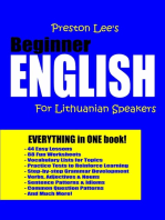 Preston Lee's Beginner English For Lithuanian Speakers