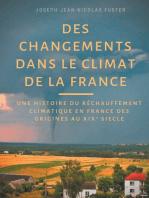 Des changements dans le climat de la France