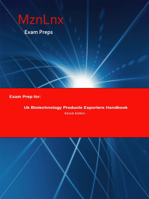 Exam Prep for:: Uk Biotechnology Products Exporters Handbook