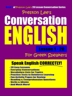 Preston Lee's Conversation English For Greek Speakers Lesson 1