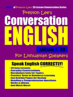 Preston Lee's Conversation English For Lithuanian Speakers Lesson 1