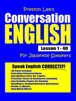 Preston Lee's Conversation English For Japanese Speakers Lesson 1