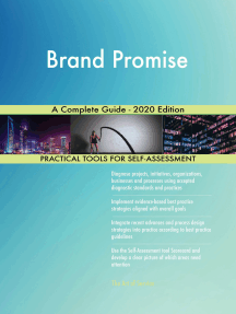 Brand Promise A Complete Guide - 2020 Edition