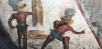 Pompeii Dig Unearths Fighting Fresco In 'Gladiators' Tavern'