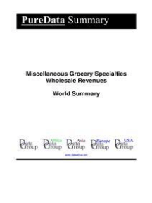 Miscellaneous Grocery Specialties Wholesale Revenues World Summary: Market Values & Financials by Country