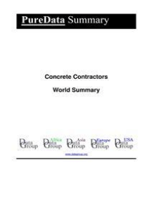 Concrete Contractors World Summary: Market Values & Financials by Country
