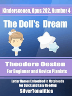 Kinderscenen Opus 202 Number 4 the Doll's Dream Theodore Oesten for Beginner and Novice Pianists Letter Names Embedded In Noteheads for Quick and Easy Reading