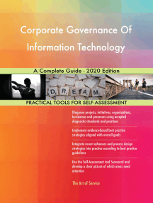 Corporate Governance Of Information Technology A Complete Guide - 2020 Edition