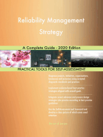 Reliability Management Strategy A Complete Guide - 2020 Edition