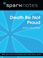Death Be Not Proud (SparkNotes Literature Guide)