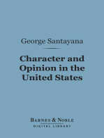 Character and Opinion in the United States (Barnes & Noble Digital Library)