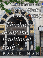"Comments on Donna West's Essay (2019) ""Thirdness along the Intuitional Path"""