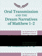 Oral Transmission and the Dream Narratives of Matthew 1–2