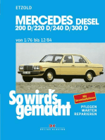Mercedes 200 D/220 D/240 D/300 D 1/76 bis 12/84: So wird´s gemacht - Band 57