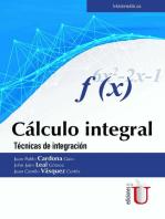 Cálculo integral: Técnicas de integración