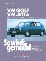 VW GOLF II von 9/83 bis 6/92, VW JETTA II von 2/84 bis 9/91: So wird's gemacht - Band 43